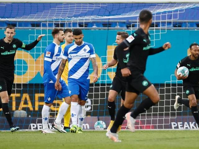 SV Darmstadt 98 verspielt komfortable Führung gegen Fürth