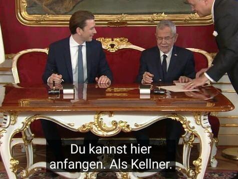 """ORF zeigt zu Kurz' Vereidigung Untertitel aus """"Alisa - Wege zum Glück"""""""