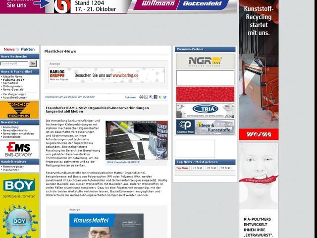 Fraunhofer IFAM + SKZ: Organoblech-Knotenverbindungen langzeitstabil kleben