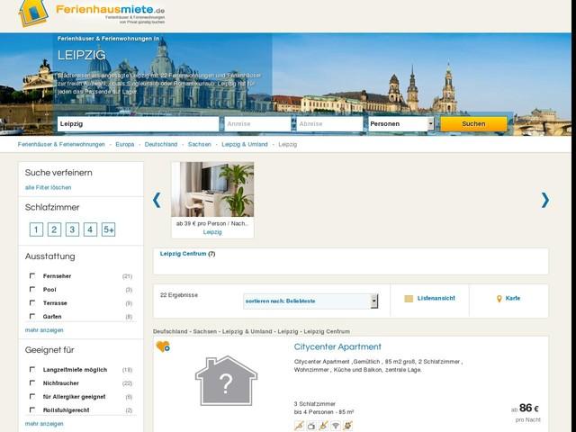 Ferienhäuser & Ferienwohnungen in Leipzig mieten