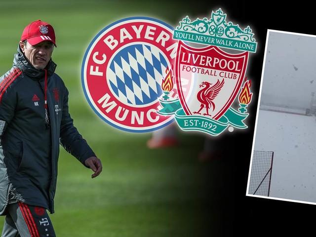 Vor Liverpool-Kracher: Bayern-Trainingsgelände komplett eingeschneit