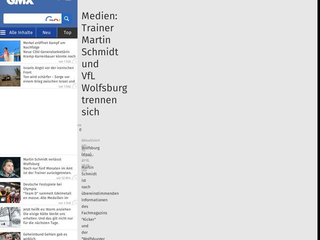 Medien: Trainer Martin Schmidt und VfL Wolfsburg trennen sich