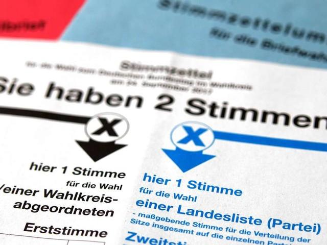 Bundestagswahl: Was wählt man mit Erststimme und Zweitstimme?