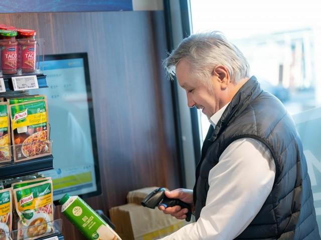 Digitaler Mini-Supermarkt in Selbstbedienung