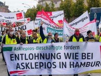 Verdi ruft zu sechstätigem Streik in Asklepios-Kliniken auf