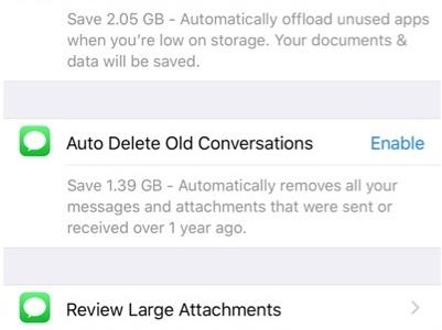 iOS 11 macht das Freigeben von mehr Speicherplatz leichter