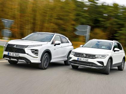 VW Tiguan, Mitsubishi Eclipse Cross: Plug-in-Hybrid, Test, SUV, Motor, Preis SUVs mit Stecker: Eclipse Cross und Tiguan als Plug-in-Hybride im Test
