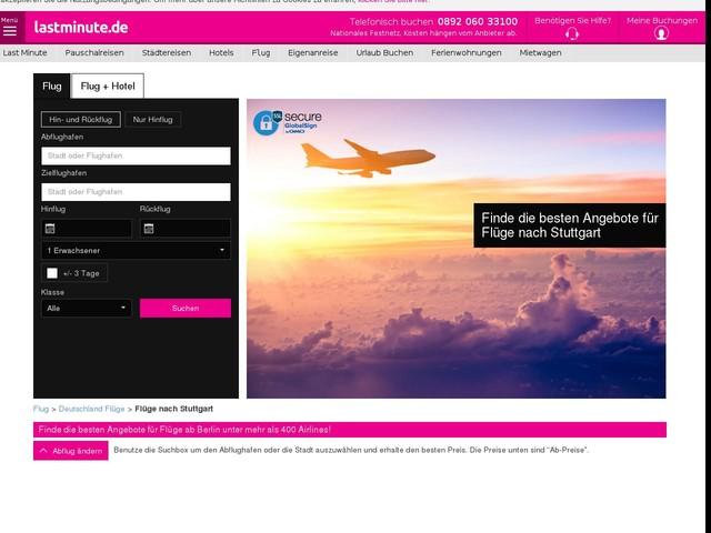 Flüge nach Stuttgart ab 57€. Billigflüge Stuttgart - lastminute.de