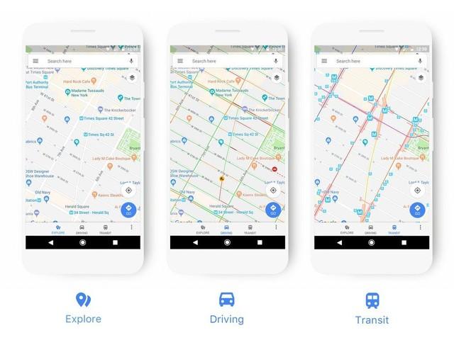 Google Maps kriegen mal wieder ein neues Aussehen - Stil: smart