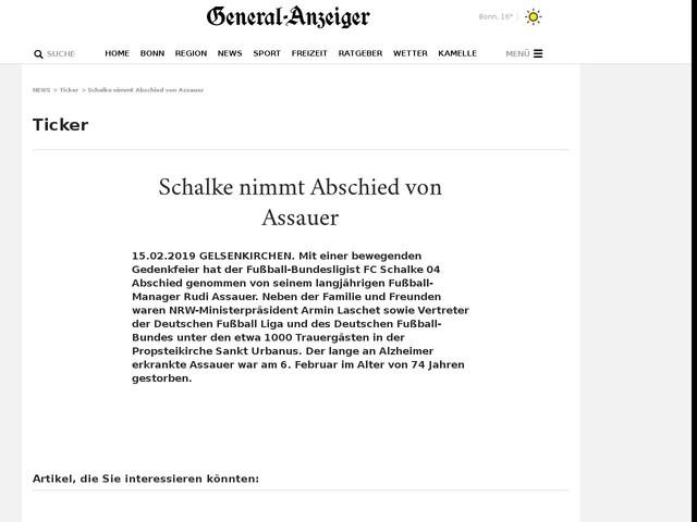 Schalke nimmt Abschied von Assauer
