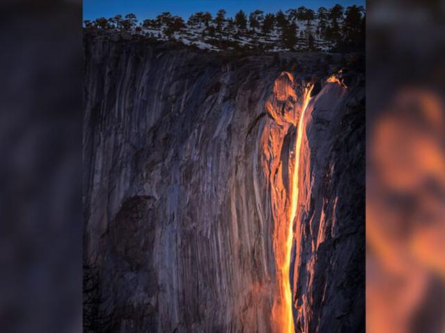 Horsetail Fall: Dieser Wasserfall glüht wie ein Lavastrom