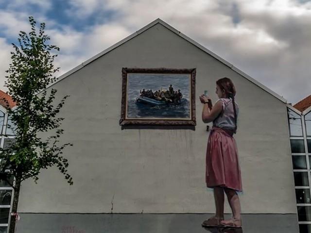 'Beholders' – Street Artist Jofre Oliveras mit beeindruckendem Mural beim Nuart-Festival in Norwegen