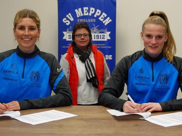 Schulte und Weiss verlängern Vertrag bei den SV-Meppen-Frauen