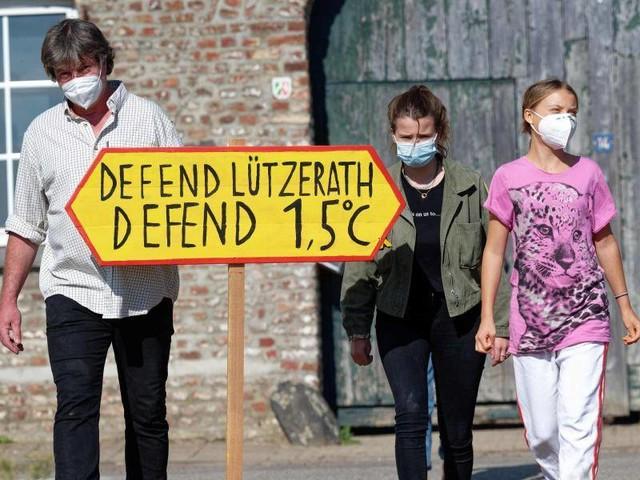 Klimaaktivismus: Thunberg besucht Dorf in Braunkohlerevier