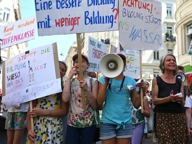 Hunderte demonstrierten gegen Folgen der neuen Wiener Lehrerzuteilung