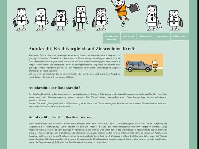 Autokredit vergleichen auf zinsrechner-kredit.de