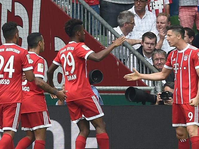 Bayern-Sieg in Bremen, Wolfsburg gewinnt in Frankfurt