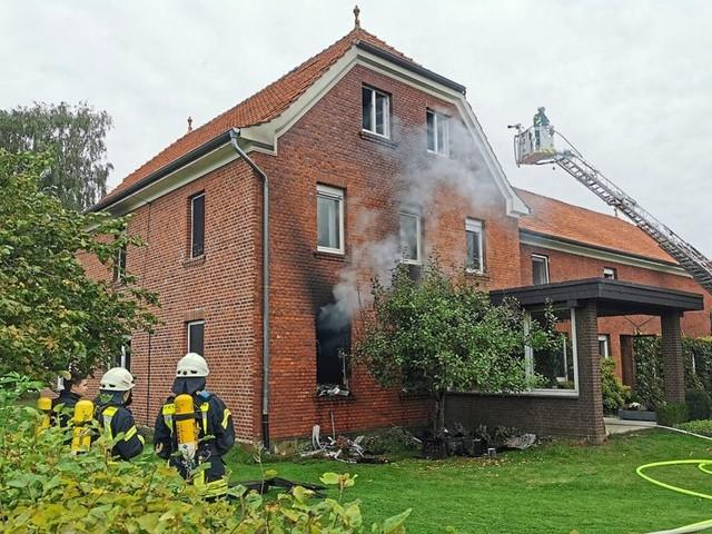 Bauernhofbrand in Stromberg