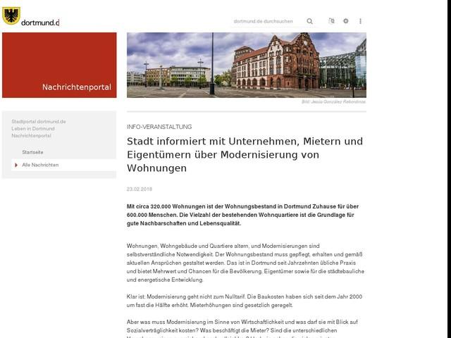 Info-Veranstaltung: Stadt informiert mit Unternehmen, Mietern und Eigentümern über Modernisierung von Wohnungen