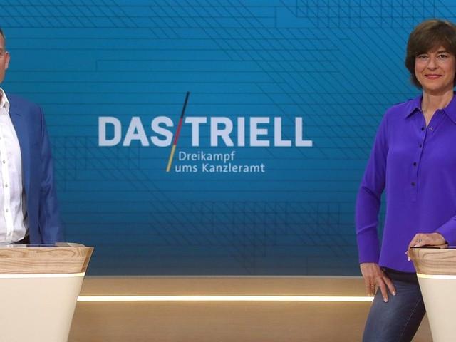 Spannung vor zweitem TV-Triell mit Laschet, Scholz und Baerbock