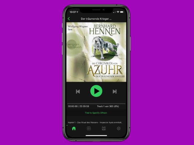 Spooks: Hörbuch-App jetzt mit integriertem Spotify-Player