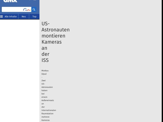 US-Astronauten montieren Kameras an der ISS