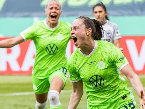 Wolfsburg sichert siebten Pokalsieg in Folge