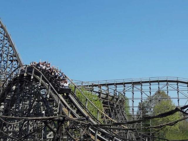 """Holzachterbahn """"Colossos"""" im Heide Park nach fast drei Jahren außer Betrieb wieder eröffnet"""
