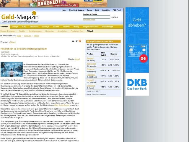 Rekordhoch im deutschen Beteiligungsmarkt