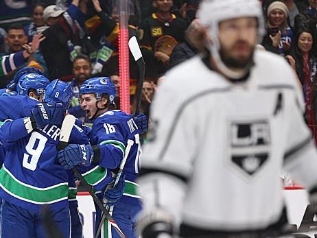 NHL: Kings kommen in Vancouver unter die Räder