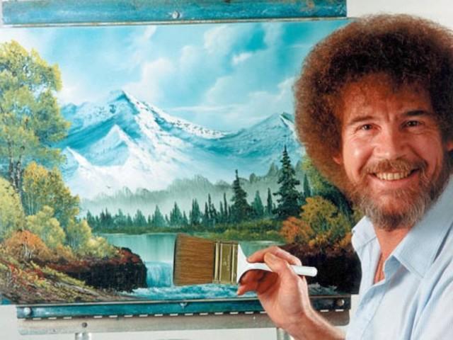 """20. Todestag von TV-Maler Bob Ross: """"Wir machen einen fröhlichen, kleinen Himmel"""""""
