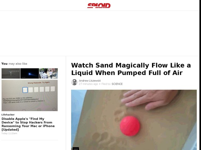Watch Sand Magically Flow Like a Liquid When Pumped Full of Air