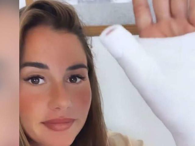 Schwangere Sarah Engels stürzt im Spa – Arm in Gips