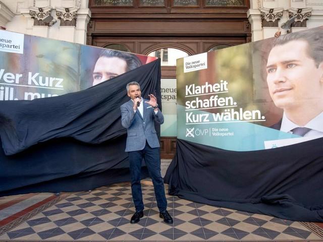 ÖVP, FPÖ und Grüne präsentierten neue Plakate