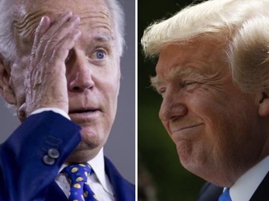 Instagram soll Trump-Hashtags zulasten von Biden ausgespielt haben.