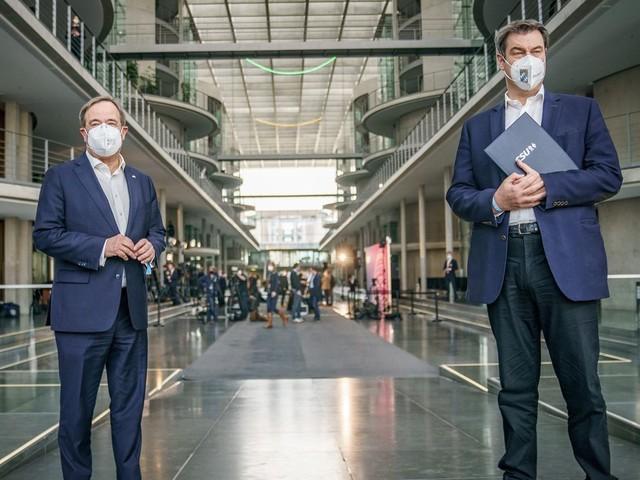 Bundestagswahl: Jetzt live: Laschet und Söder stellen Wahlprogramm der Union vor