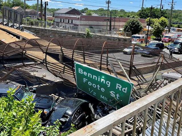 USA: Brücke in Washington bricht über Autobahn zusammen