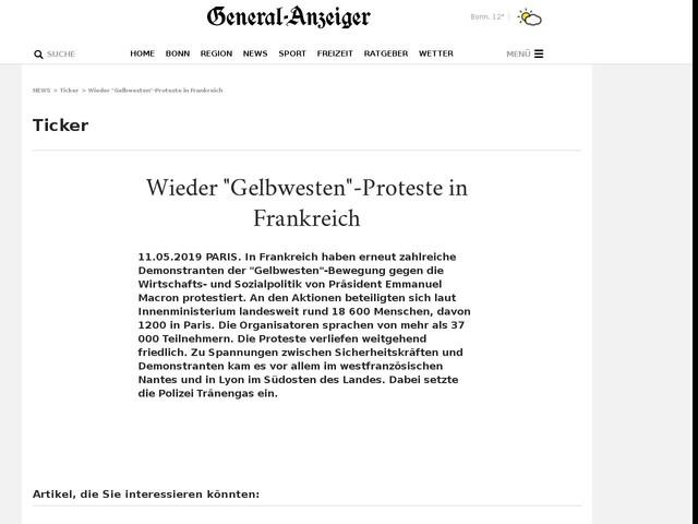 """Wieder """"Gelbwesten""""-Proteste in Frankreich"""