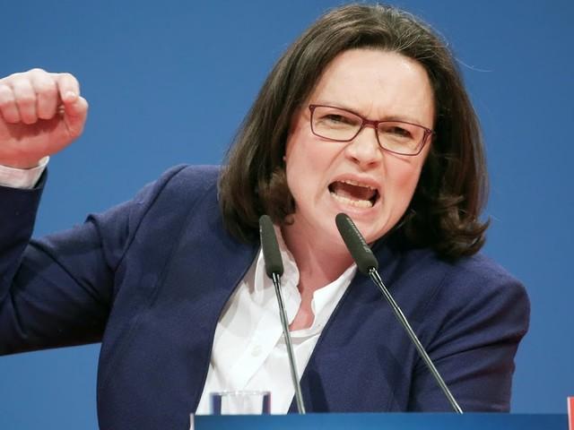 "91% der SPD-GroKo-Befürworter geben ""Angst vor Andrea Nahles"" als Entscheidungsgrund an"