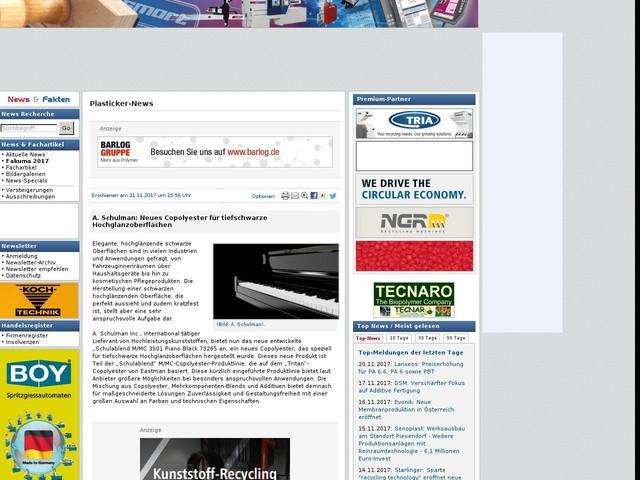 A. Schulman: Neues Copolyester für tiefschwarze Hochglanzoberflächen