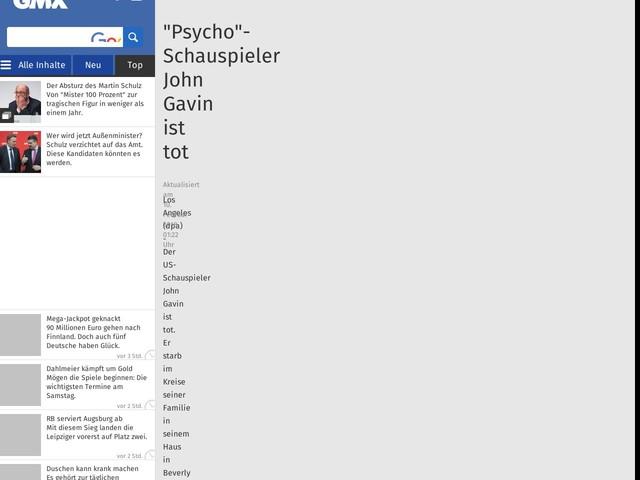 """Psycho""-Schauspieler John Gavin ist tot"