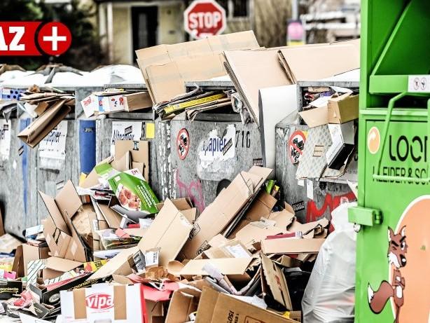 Entsorgung: Volle Müllcontainer: Neue Technik soll in Essen helfen