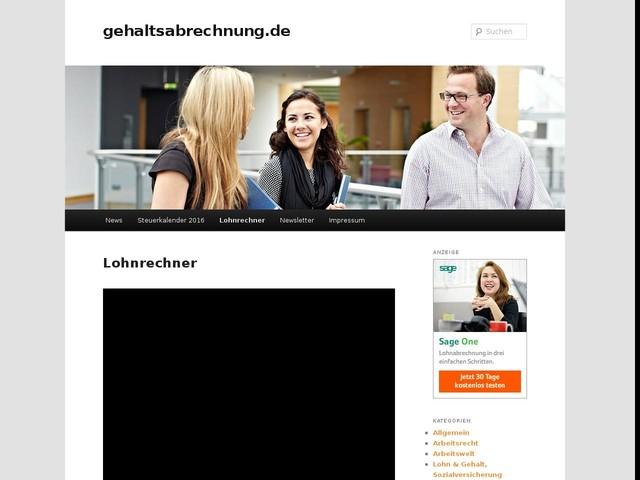 Lohnrechner - gehaltsabrechnung.de