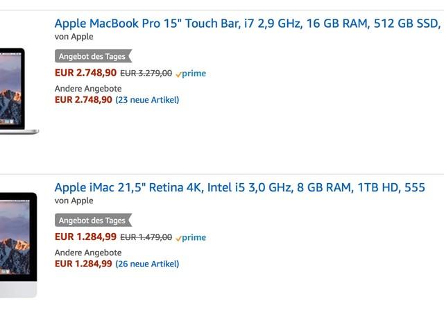 Amazon Deals: MacBook Pro, iMac, Philips Hue, Amazon Echo und mehr