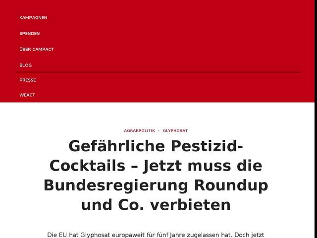 Gefährliche Pestizid-Cocktails – Jetzt muss die Bundesregierung Roundup und Co. verbieten