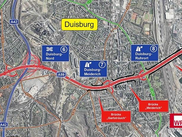Verkehr: Duisburger Autobahn: So soll der Ausbau der A59 ablaufen