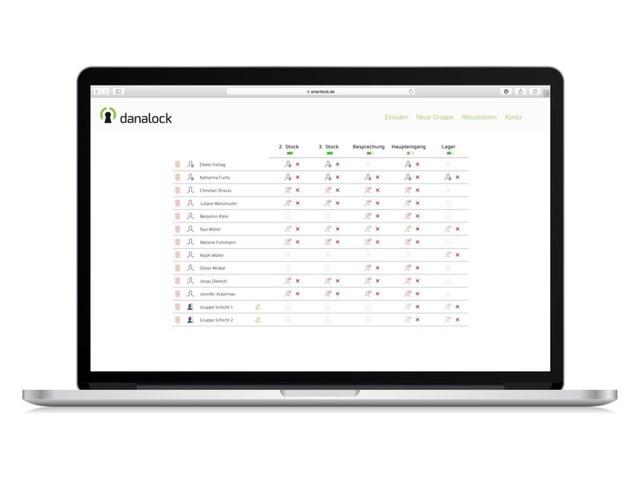Danalock bekommt Webportal