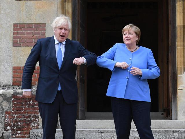 Die besten Momente von Merkels Abschiedsbesuch bei den Briten