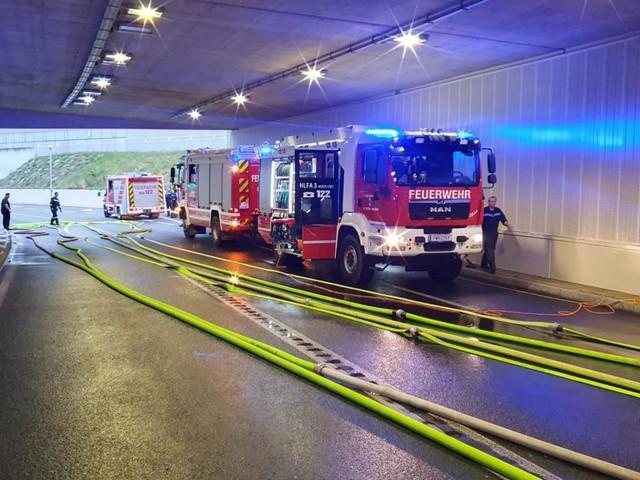 Unwetter überflutete Landhaustunnel in St. Pölten