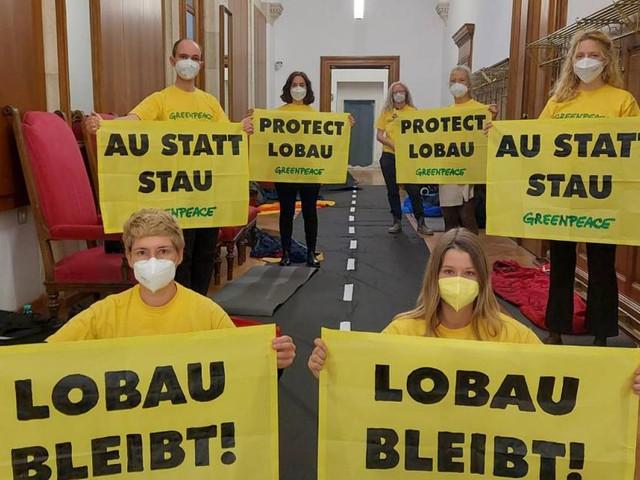 Wiener Rathaus von Greenpeace seit 24 Stunden besetzt
